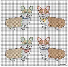 Corgi cross stitch! Free pattern.