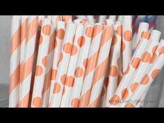 Retro Paper Drinking #Straws NEW!