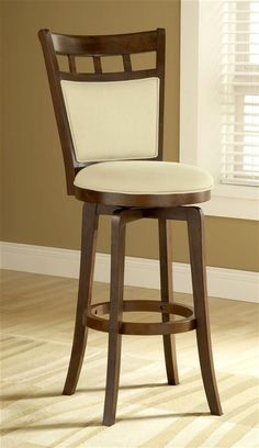Hillsdale - Classic Swivel Counter Stool w Padded Seat & Back - Jefferson