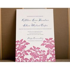 Our 50 Favourite Wedding Invitations Bold Invitation by Smock Paper – The Knot