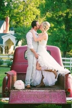 This would be my ideal wedding shot! Love chevys, old trucks being my favorite!