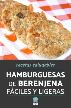 Receta de hamburguesas de berenjena fáciles y ligeras. #RecetasGratis #RecetasVegetarianas #HamburguesasVegetales #HamburguesasCaseras #RecetasconBerenjena Healthy Gluten Free Recipes, Real Food Recipes, Cooking Recipes, Vegetarian Side Dishes, Vegetarian Recipes, Easy Cooking, Healthy Cooking, Veggie Recipes Sides, Burger