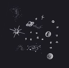 Planets and Stars Tattoos Drawings (page - Pics about space Illustration Inspiration, Illustration Art, Landscape Illustration, Space Drawings, Art Drawings, Drawings Of Stars, Galaxy Drawings, Tumblr Art, Stars And Moon