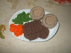 Free Roast Beef Dinner crochet pattern