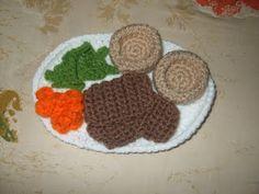 Free Roast Beef Dinner crochet pattern