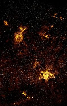 Galactic Center Region in Near-Infrared from Hubble | Although best known for its visible-light images, the Hubble Space Telescope also observes over a limited range of infrared light. The galactic center is marked by the bright patch in the lower right. Along the left side are large arcs of warm gas that have been heated by clusters of bright massive stars. In addition, Hubble uncovered many more massive stars across the region.