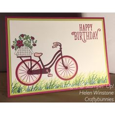 Bike Ride and Happy Birthday Georgeous Stampin' Up! 2017-2018 Catalogue