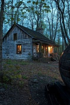 bluepueblo: Forest Cabin, Quebec, Canada photo via dianne