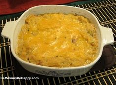 Light Tuna Casserole. OMGsh!!! Tuna Casserole is my favorite comfort food. I have to try this! It was pretty good! I had never had spaghetti squash before, and I think next time I'll cook it longer before making the casserole.