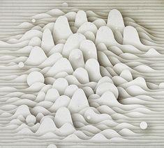paper cloud sculpture