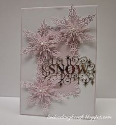 """Hi everyone… I'm very much in a """"pastelly"""" (not a word I know) mood at the mom… – Christmas DIY Holiday Cards Christmas Card Crafts, Homemade Christmas Cards, Christmas Cards To Make, Christmas Snowflakes, Pink Christmas, Xmas Cards, Homemade Cards, Handmade Christmas, Holiday Cards"""