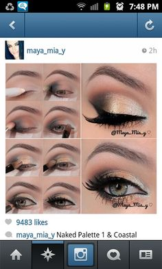 How to put makeup on