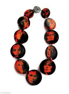 Vera Siemund - necklace, 2009, copper, silver, enamel - 180 x 320 x 50 mm