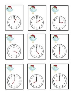Preschool Printables, Learning the Time Preschool Printables, Preschool Worksheets, Math Activities, Learn To Tell Time, Play To Learn, Teaching Social Studies, Help Teaching, Reading Comprehension Passages, 1st Grade Math
