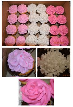 Girl Baby Shower Cupcakes - Marble cupcakes with buttercream frosting.