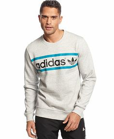 adidas Sweatshirt, Originals Heritage Logo - Hoodies & Fleece - Men - Macy's