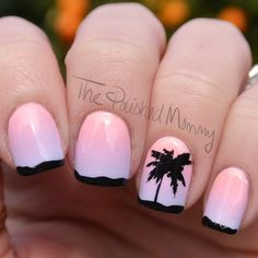 Nailpolis Museum of Nail Art | IMATS LA 2015 by The Polished Mommy. Palm tree, sunset nail art