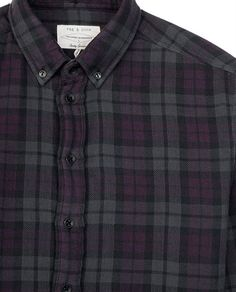 rag & bone Official Store, Button Down Oxford, purple fl, Mens : Ready to Wear : Shirts : Button Down Oxf, M235A22RR