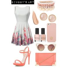 Party Flowers by giuggysart on Polyvore featuring polyvore, moda, style, River Island, Foley + Corinna, Saachi, Lipsy, Tory Burch and Bobbi Brown Cosmetics