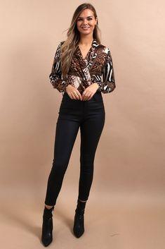 Winter Tops For Women, Luxury Fashion, Womens Fashion, Work Attire, Long Sleeve Shirts, Women Wear, Cute Outfits, Bodysuit, Lady