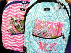 Monogrammed Backpack Kids Backpack Personalized by TheGiftingSpot ...
