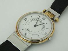 Womens Van Cleef & Arpels Two Tone 18K Gold La collection Ladies Watch