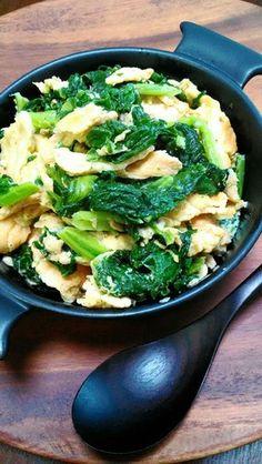 沖縄料理・フーチキナー(からし菜)炒め