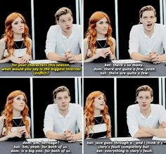 jace has got 99 problems and clary is all of them.