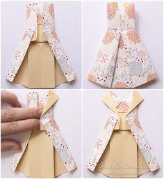 Vestidos de origami paso a paso