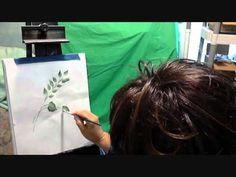 One stroke Painting Celestine Paints