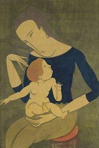 Mere et Enfant 1917