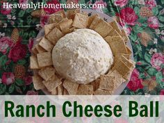 Ranch Cheese Ball. Poker night snack!