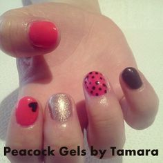 Hearts and Dots Manicure Nail Art!