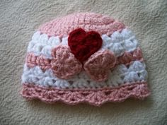 Sweetheart Hat for Newborns by JanCraftedApparel on Etsy, $15.00