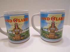 Land of Lakes Collectible Vintage Mugs by vertzvkv on Etsy, $20.00