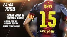 Quince años del debut de Xavi Hernández   FC Barcelona