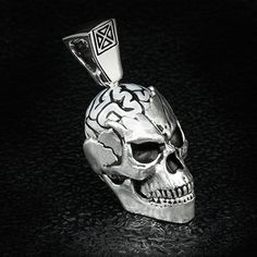 Ecks Vegas Nightlife Jewelry For Men Mens Silver Necklace, Skull Necklace, Men Necklace, Sterling Silver Necklaces, Designer Jewelry Brands, Shirtless Hunks, Dolphin Jewelry, Skull Design, Silver Pearls
