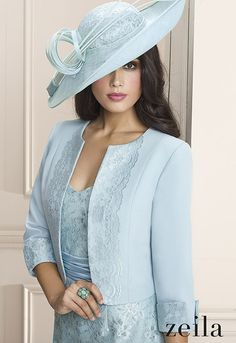 New is Zeila 3020018 from their new Spring Summer 2016 collection. A stylish, modern Mother of the Bride dress complete with a matching jacket.