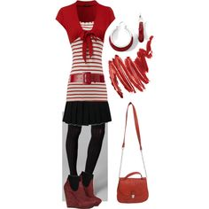 Red, White & Black, created by randomlylogical on Polyvore