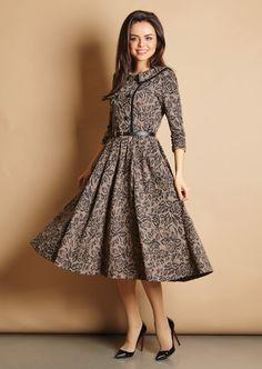 9a8d05aa049 Modest Midi Dress Fashion Outfits