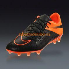 Descuento Zapatillas de Futbol Nike Hypervenom Phinish FG Negro Naranja  Total a56deb7559a6a