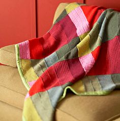 Make a recycled sweater throw with BHG, featured @totgreencrafts