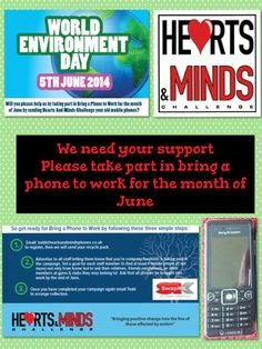 Bring a phone to work for the month of June Old Phone, We Need You, Heart And Mind, Fundraising, June, Bring It On, Challenges, Mindfulness, Day