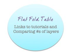 Master Flat Fold Table (table contains link to diaper fold tutorial, # of layers and location of max layers)