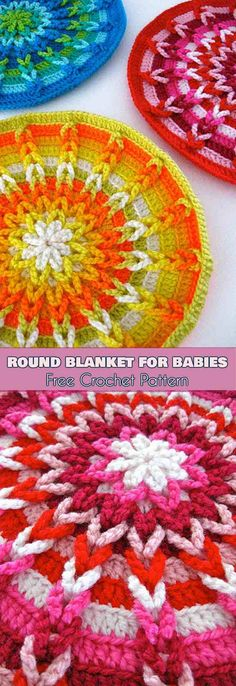 Round Blanket for Babies – Jacob's Ladder – Free Pattern   Your Crochet