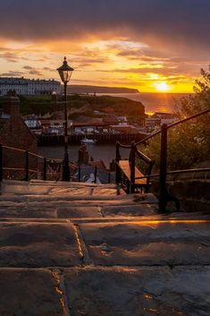 Overlooking Whitby Harbour from the 199 steps Amazing Photography, Celestial, Sunset, Outdoor, Outdoors, Sunsets, Outdoor Games, Outdoor Life, The Sunset