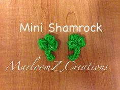 Rainbow Loom Mini Shamrock Charm by MarloomZ Creations. Yay! A new design for St. Patrick's Day!