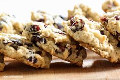 White Chocolate Cranberry Oatmeal Cookies Sounds delish!!!