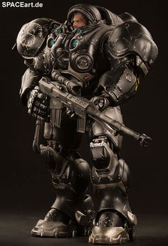 StarCraft: Terran Space Marine Jim Raynor | Deluxe-Figur (voll beweglich) | Sideshow | https://spaceart.de/produkte/stc003.php