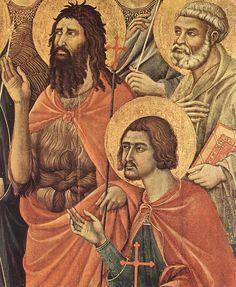 Duccio di Buoninsegna - Maestà (Madonna con Angeli e Santi), particolare - Fronte - 1308-11 - Tempera e oro su tavola - Museo dell'Opera del Duomo, Siena